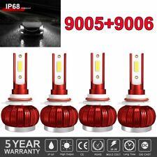 4pcs Combo 90059006 Led Headlight Kit High Low Beam Light Bulb Cree White 6000k