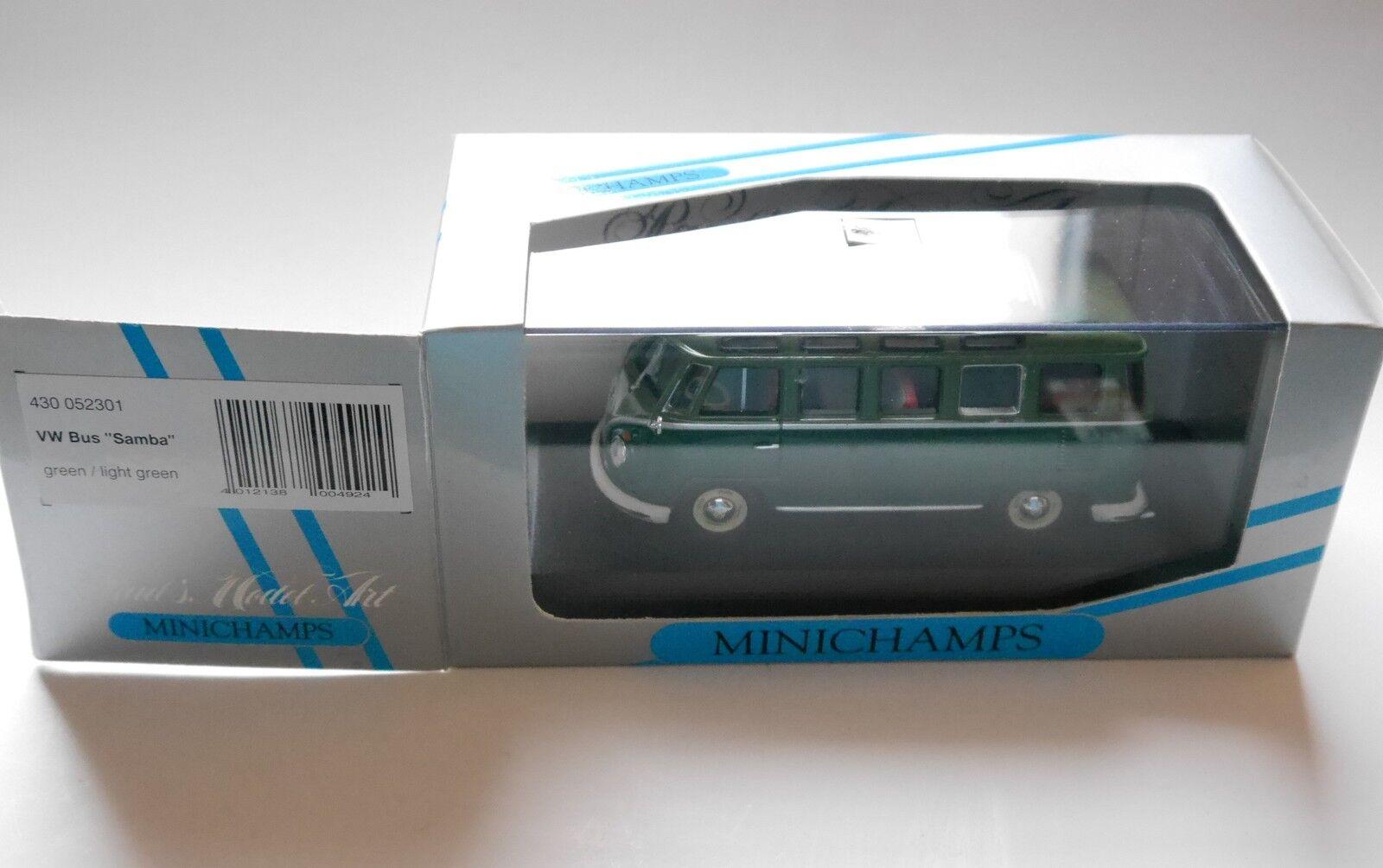 VW Tipo 2 Bus Samba in verde verde Light verde Minichamps 430 052301 1 43 Boxed