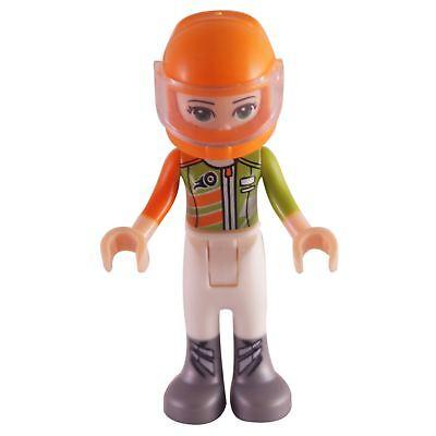 NEW Olivia Racing Jacket Helmet 41348 Female Doll Friends LEGO Minifigure Mini
