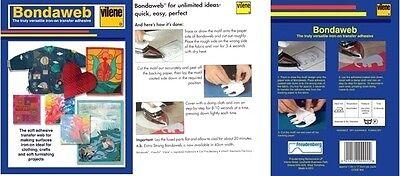 Paper Fusible Backed Web Iron On Transfer Adhesive Applique Glue Vilene Bondaweb