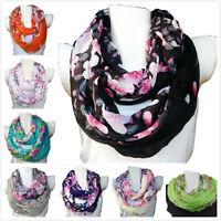 Damen Blumen Rundschal Schlauchschal Loop Schal Tuch viele Farben