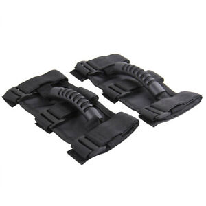 1-PAIR-PREMIUM-Roll-Bar-Grab-Handle-Handles-Black-for-Jeep-Wrangler-CJ-YJ-TJ-JK