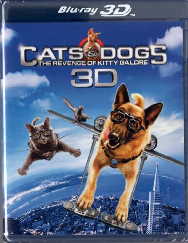 1 of 1 - Cats & Dogs: The Revenge of Kitty Galore (Blu-ray Disc, 2010, 2-Disc Set, 3D)