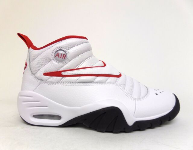 990bc19102a Nike Air Shake Ndestrukt Mens 880869-100 White Red Basketball Shoes ...
