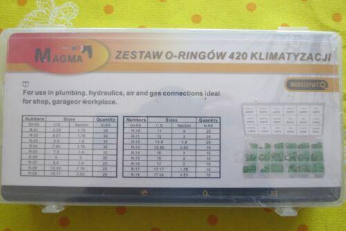 Dichtungsringe-ORING-KIT-KLIMA-ANLAGE HNBR 420 Elemente Zu einem Werbepreis !!!