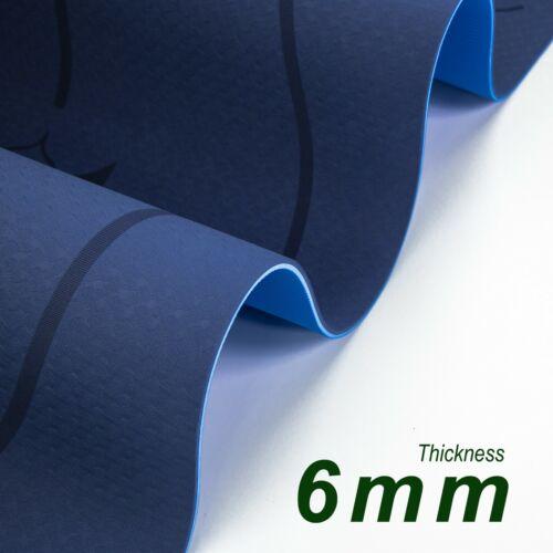 EVO Fitness YOGA MAT TPE Multi LAYER Exercise Printed 6mm Waterproof Anti Slip