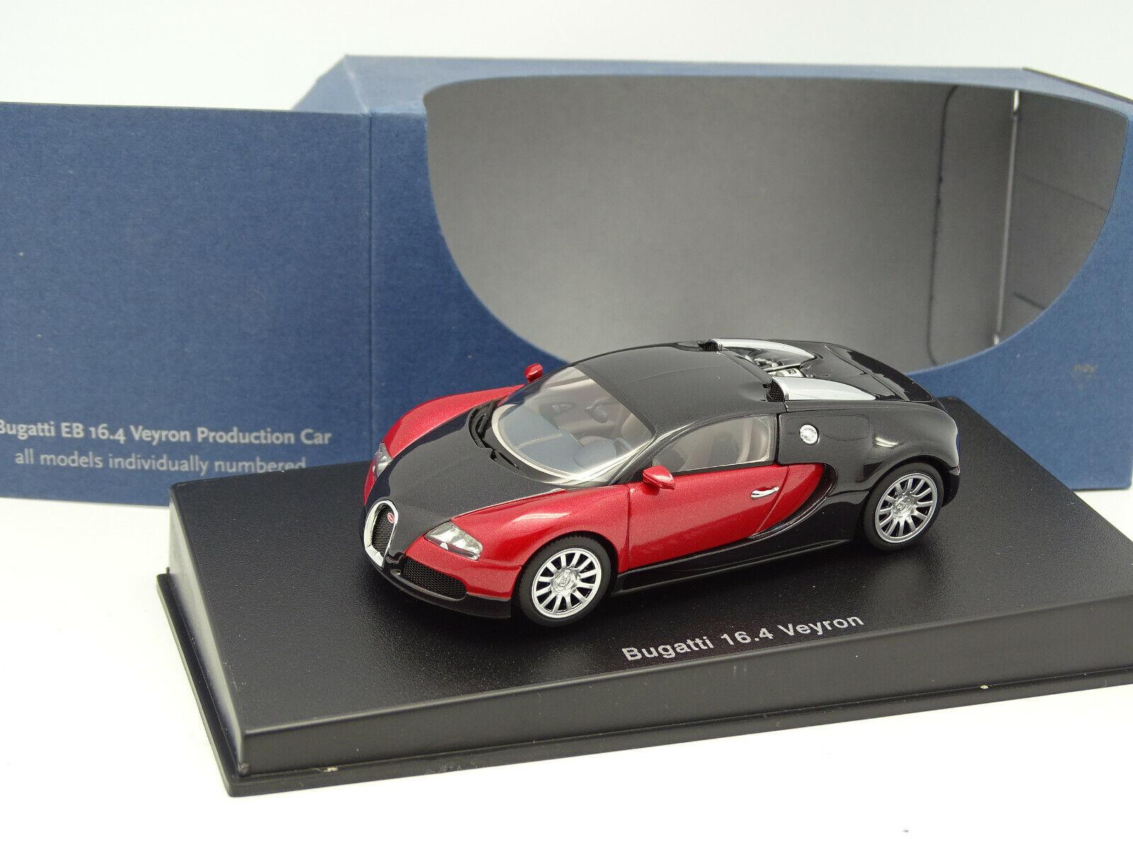 para proporcionarle una compra en línea agradable Auto Art 1 43 - Bugatti Eb 16.4 16.4 16.4 Veyron Producción Coche Negra y Rojo  Precio al por mayor y calidad confiable.