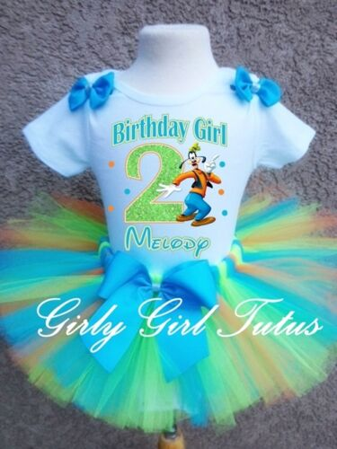 Baby Girl Goofy 1st and 2nd Birthday Tutu Outfit Party Dress Set