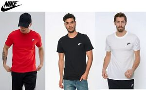 d3cee7f0 Nike Men SWOOSH RED BLACK WHITE FUTURA CORE Slim fit Gym Jog TEE T ...
