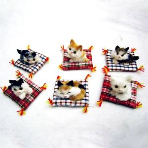 Cute-Simulation-Animal-Doll-Plush-Sleeping-Cat-Kitten-Kids-Children-Toy-Gift