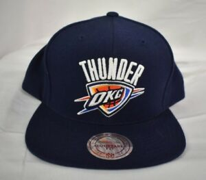 23f5298632ff2 Mitchell   Ness NBA Oklahoma City OKC Thunder Snapback Hat Cap New ...
