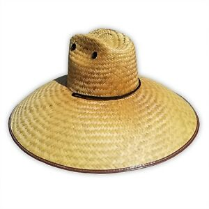9182cbc0f Details about Best Shade Hat UNIVERSAL Wide Straw Brim Gardening Party  Lifeguard Sun Fishing