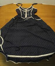 Vintage 70s Gunne Sax Dress Calico Floral Boho Wedding Blue Floral Small