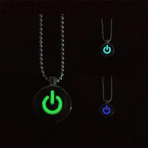 Kette-Legierung-Versilbert-Fluoreszierend-Leuchtende-Halskette-Macht-Licht