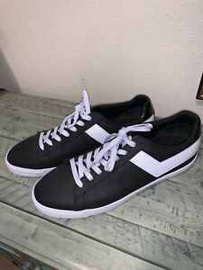 Men-s-Pony-Sneakers-Canvas-and-Leather-Black-With-White-Chevrons-Size-13