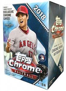 Details About Mlb 2018 Topps Chrome Baseball Cards Trading Card Blaster Box