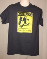 League Of Legends Lol Caution Don't Chase Graphic T-shirt Black