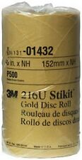 """3M 1432 Stikit™ Gold Disc Roll 01432, 6"""", P500A, 175 discs/roll"""
