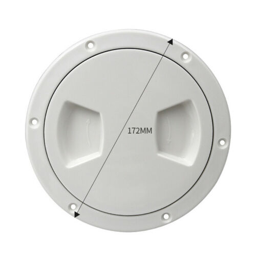 """5/"""" Plastic Round Access Hatch Deck Cover Lid For Marine Boat Yacht Inspection X1"""