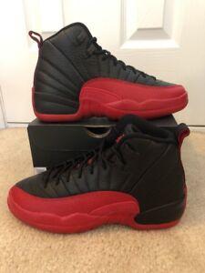 free shipping b73b5 a5f06 Image is loading Nike-Air-Jordan-12-Retro-BG-Flu-Game-