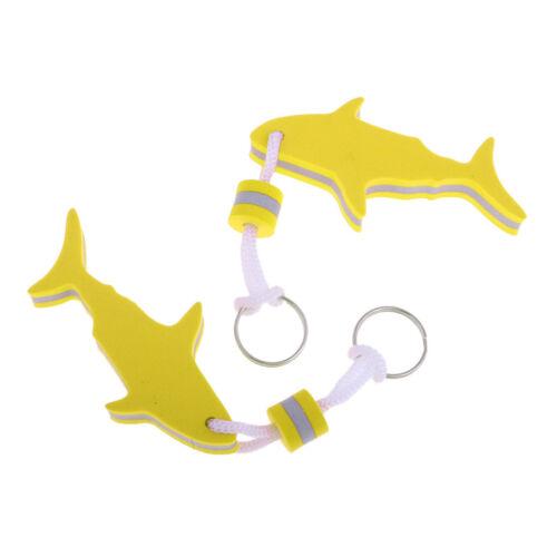 satz Leichte Shark EVA Schaum Schwimm Schlüsselanhänger Ring 2 Teile
