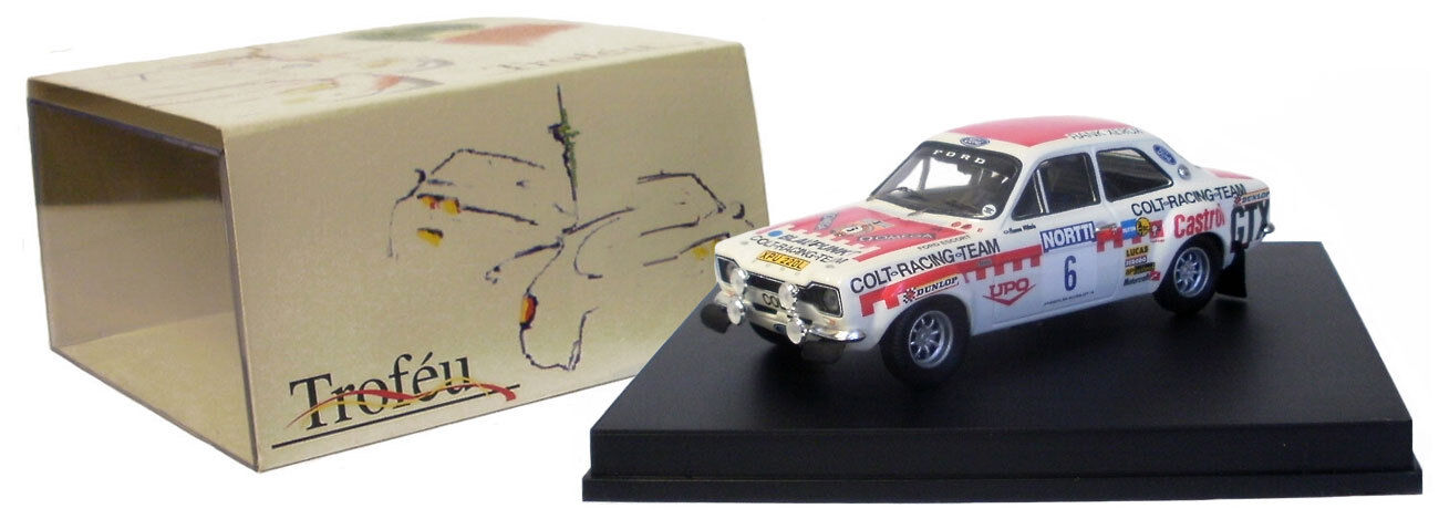 Trofeu 529 Ford Escort Mk I Winner 1000 Lakes Rally 1974-H Mikkola 1 43 Escala