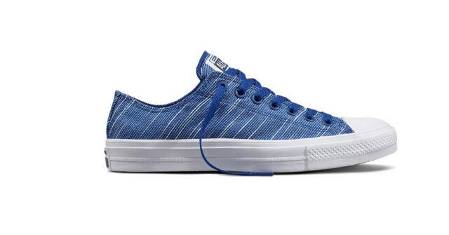 0e9b742139b Converse Chuck Taylor All Star II Knit Blue White Mens Casual ...