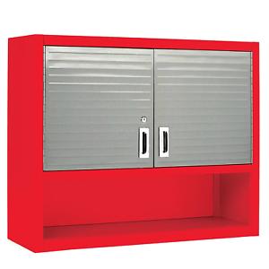 Red//Silver Seville Cabinet UHD2015OB Wall Cabinet w// Open Shelf #1505