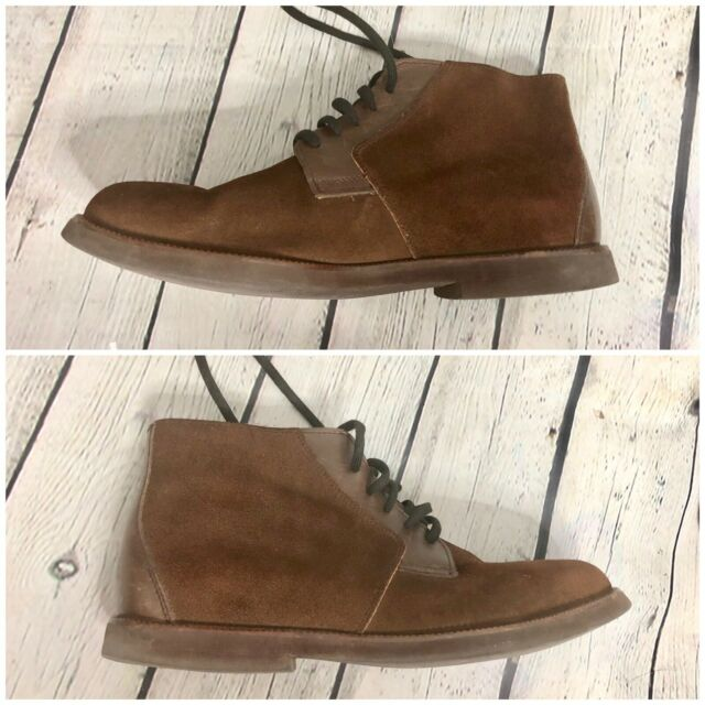 BALLY Chesnut Brown Suede Lace Up Mens Boot Size 8