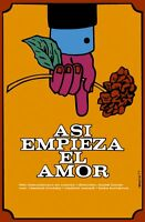 8247.asi Empieza El Amor.czech Film.man With Rose.poster.movie Decor.graphic Art