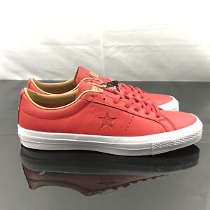 2b90e1553688 Converse One STAR LEATHER OX CASINO RED   SAND DUNE 153699C Men s ...