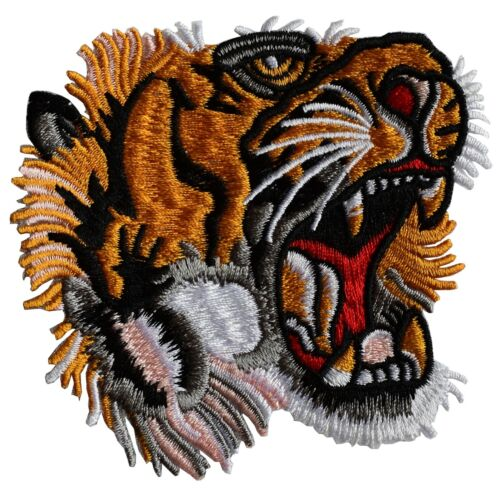 #5039 Tiger Face Head Embroidery Iron On Applique Patch