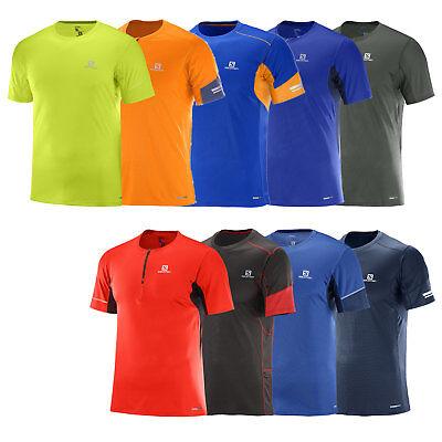 Salomon Agile Short Sleeve Tee Herren Laufshirt Sportshirt Funktionsshirt Shirt | eBay