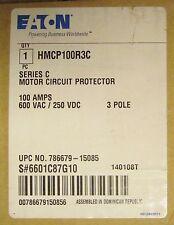EATON CUTLER HAMMER HMCP Motor Circuit Protector 3 Pole 100 Amp HMCP100R3C