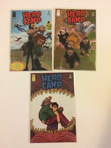 Lot-of-3-Hero-Camp-1-2-3-Image-Comics-2005-VF-NM-Near-Complete