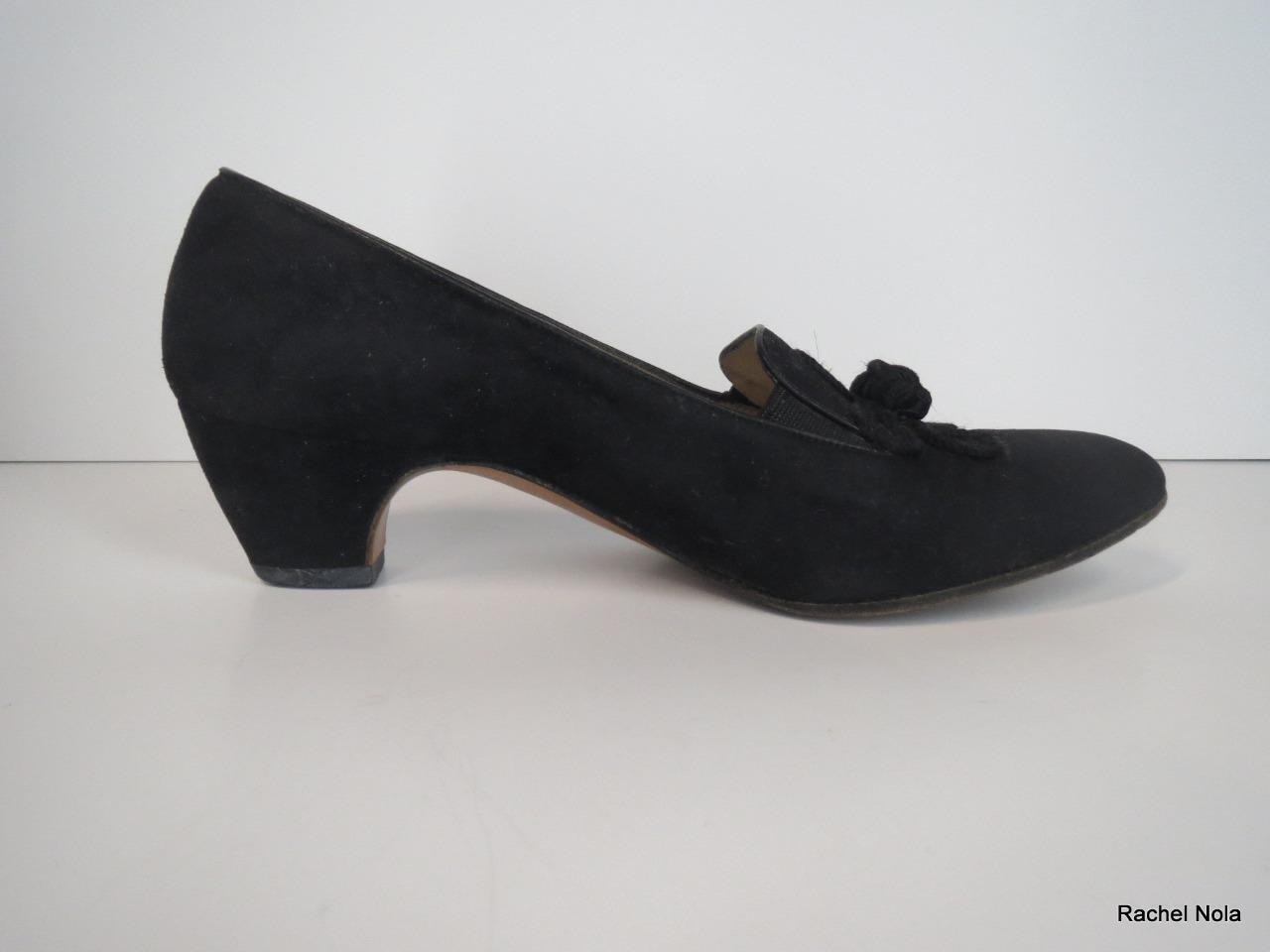 basta comprarlo Ferragamo Heels Pumps Classic Suede Dimensione 5 nero Flower Knot Knot Knot Comfort Work Career  consegna e reso gratuiti