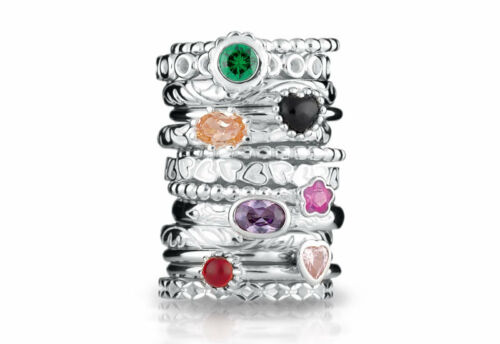 Neu Spinning Jewelry 925 Silber Extreme Ring 80807 Mehrere Ringe Kombinierbar