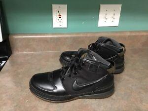 21c664637e3 2008 Nike Zoom LeBron 6 VI The Six 346526 001 Black Gold Basketball ...