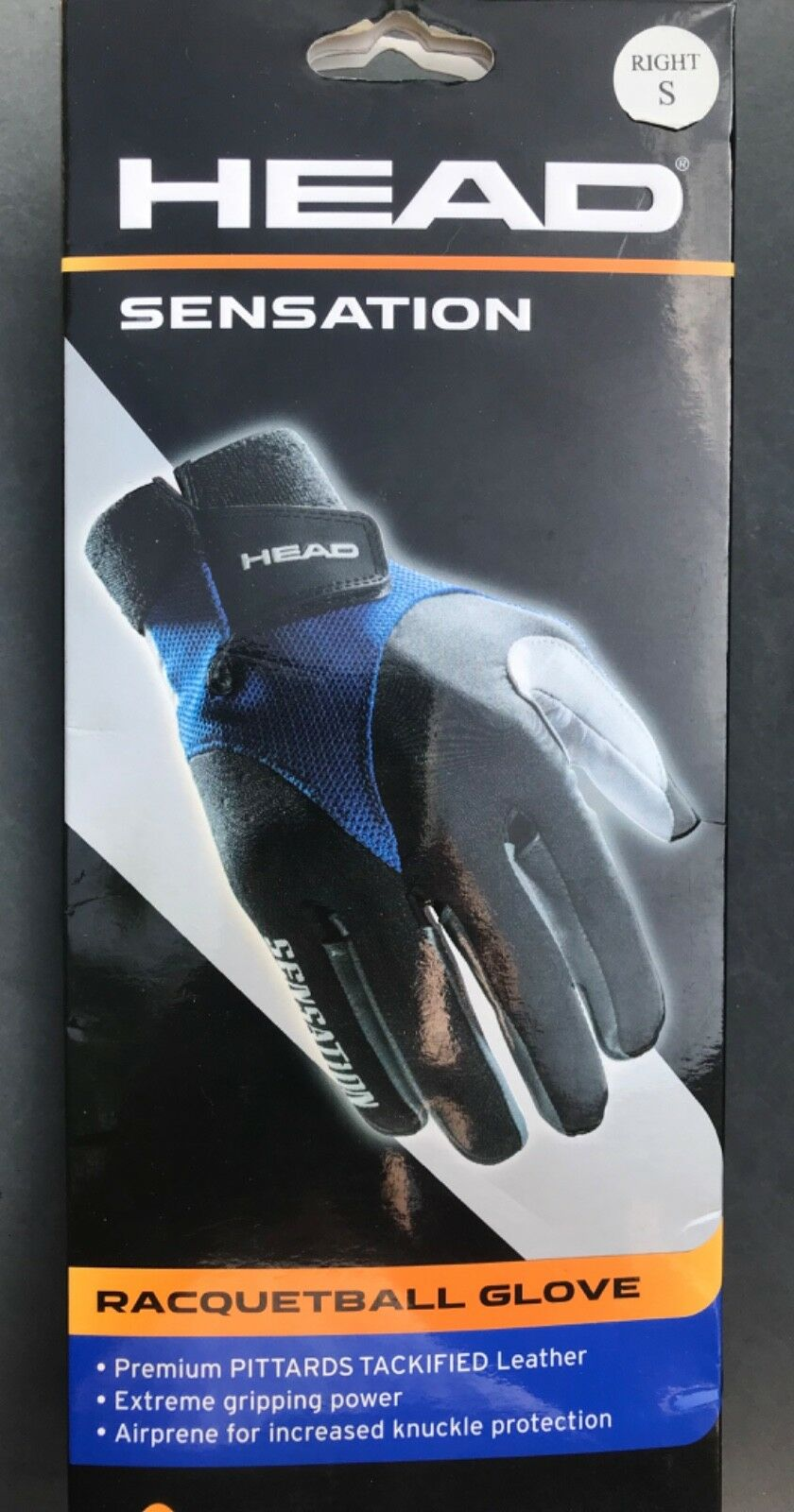Size:X-Large HEAD Sensation Racquetball Right Hand Glove