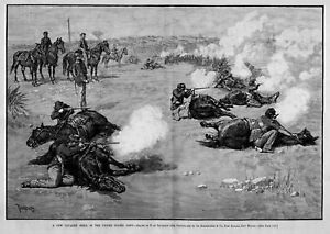 HORSES-CAVALRY-DRILL-IN-THE-UNITED-STATES-ARMY-INFANTRY-RIFLE-1885-HISTORY-HORSE