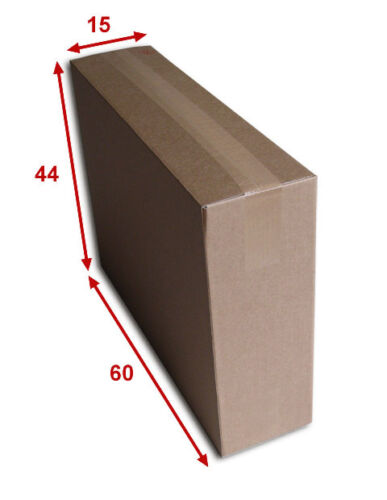 5 boîtes emballages cartons  n° 68A simple cannelure 600x150x440 mm