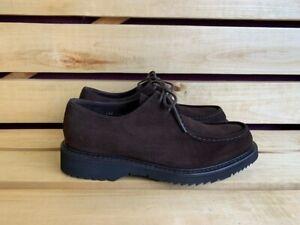 PRADA Vitello Rodeo Brown Suede Derby Shoes Sz. UK 7.5 US 8.5 EU 41.5 2EE