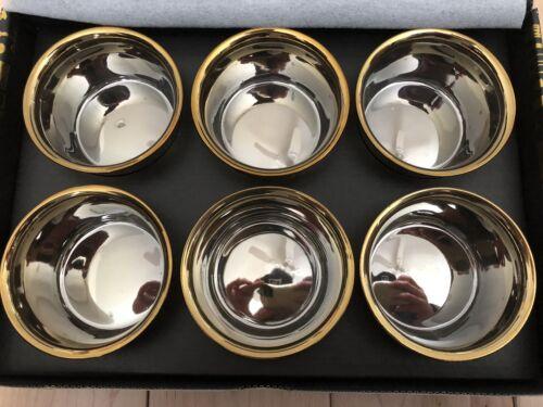 SELETTI LIMITED EDITION GOLD Estetico Quotidiano Porcelain Ice Cream Bowls Set 6