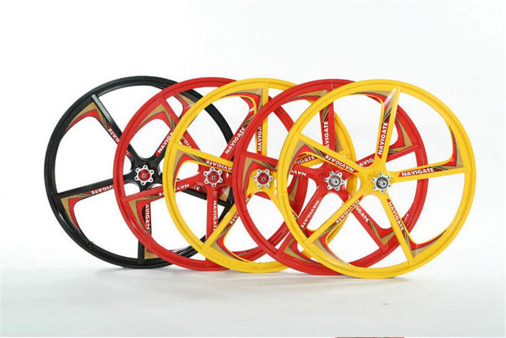 24  MTB Bike Mag Front Rear Wheel Set Wheelset Rims Disc Brake 7 Speed Dia 406mm