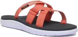 Teva-Voya-Slide-Womens-Canvas-Sandal-In-Orange-Size-UK-3-8