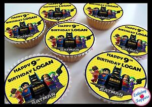 24 Personalised Lego Batman Birthday Cake Toppers eBay