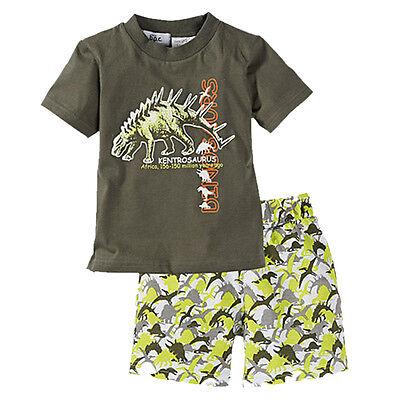 Kids Baby Boys Girls Summer Beach Outfits Clothes T-shirt Tops+Shorts 2PCS Set