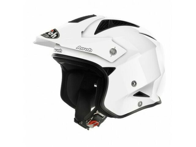 Casco Jet On-Off Airoh Trr S Color Bianco Lucido