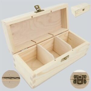 1x Mahogany Wooden Tea Box Tea Caddy Kitchen Chest 2 Compartments Storage H2mm Antiques