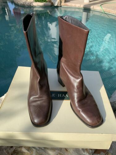 Cole Haan Alanis Fudge Leather short wedge Boots s